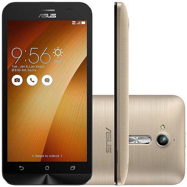 """Celular Smartphone Asus Zenfone Go ZB500KL 16GB LTE Dual Sim Tela 5"""" HD Câm.13MP+5MP - Dourado"""