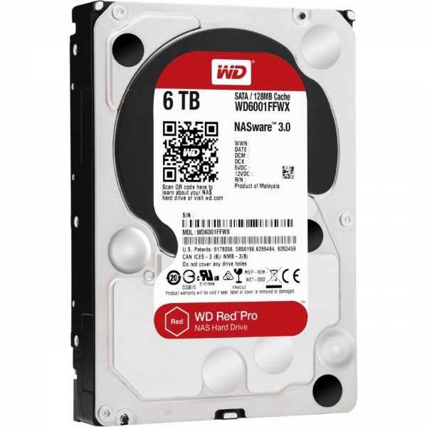 "HD Western Digital NAS 6TB 3.5"" 5400RPM 64MB"