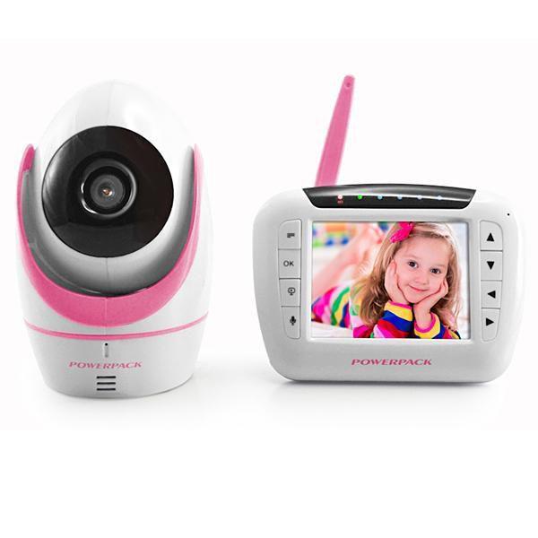 """Babá Eletrônica Powerpack MT-V388 3.5"""" Câmera Branco/Rosa"""