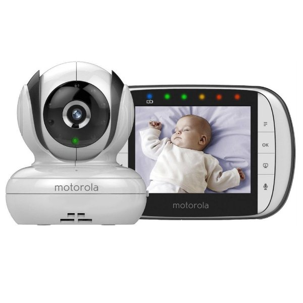 "Babá Eletrônica Motorola MBP-33S 2.8""- Branco"