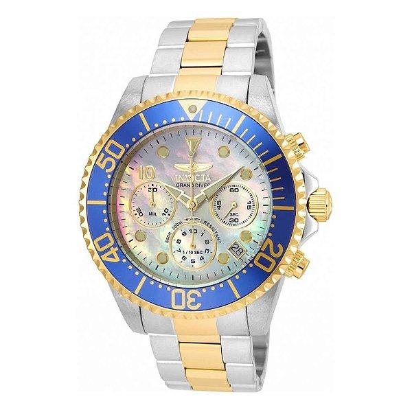 Relógio Invicta Pro Diver 22038 - Ouro 18K M