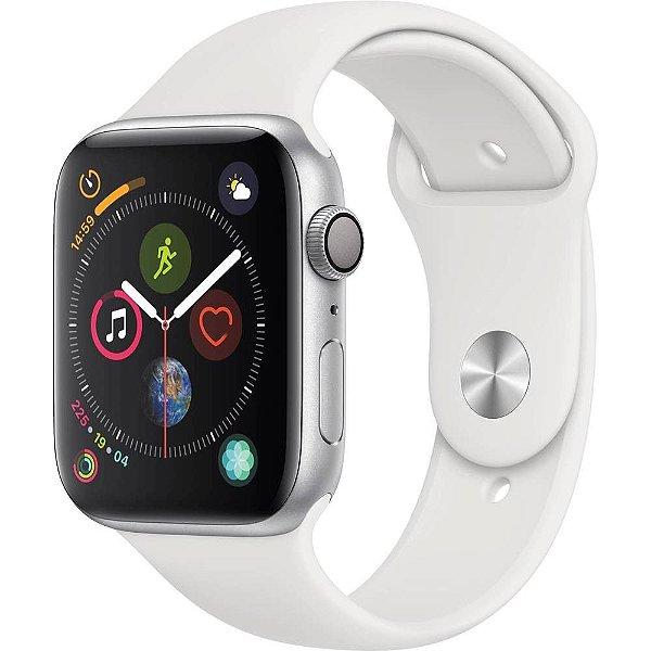 Apple Watch Series 4 44mm MUD6A2LL/A Cinza/ Branco Smartwatch