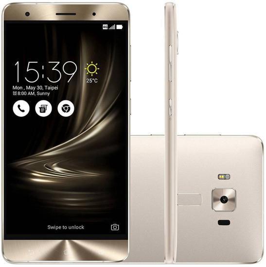 "Smartphone Asus Zenfone 3 Deluxe 64GB Dual Sim 5.5"" - Prata"