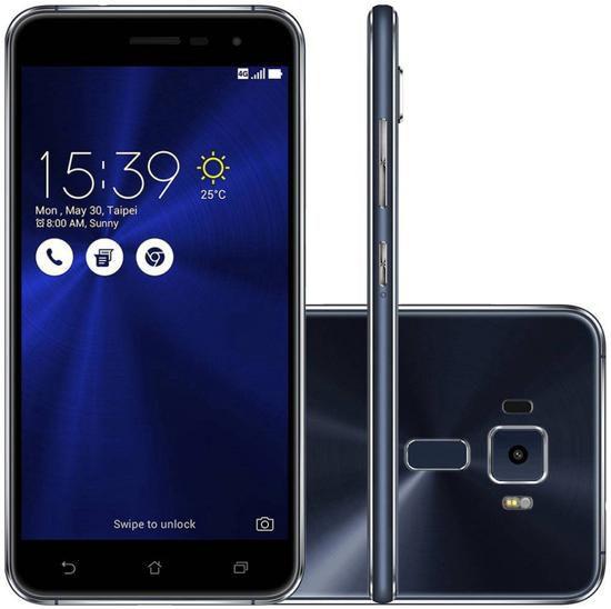 "Smartphone Asus Zenfone 3 32GB Dual Sim 5.2""- Preto"