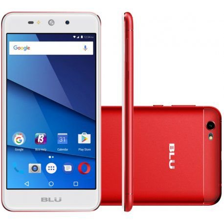 "Smartphone Blu Grand XL 1GB/8GB Dual Sim 3G 5.5""- Vermelho"