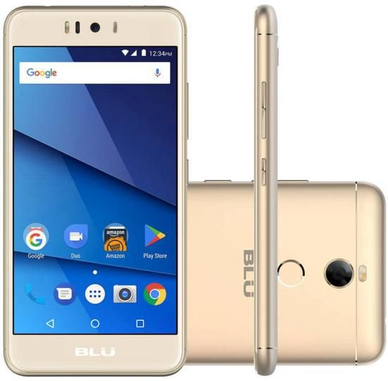 "Smartphone Blu R2 Lte Dual Sim 4G 5.2"" 32GB/3GB- Dourado"