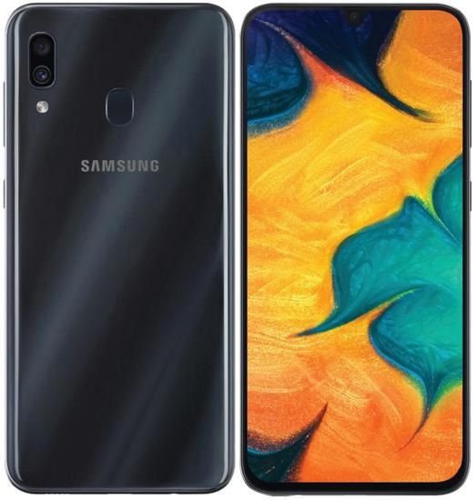 "Smartphone Samsung Galaxy A30 Dual Sim Lte 64GB 6.4"" - Preto"