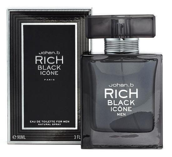 Perfume Geparlys Rich Black Icone EDT M 90ML