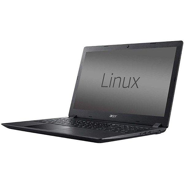"Notebook Acer A315-32-C4SX Cel 1.1GHZ/ 4GB/ 500GB/ 15.6"" Preto"
