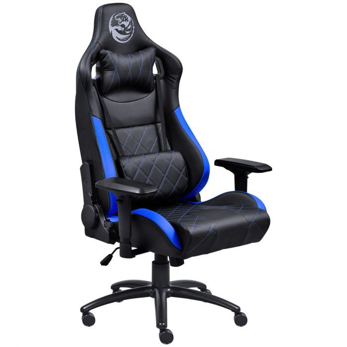 Cadeira Gamer Mad Racer V10 Preto /Azul Rodas Gel MADV10AZGl