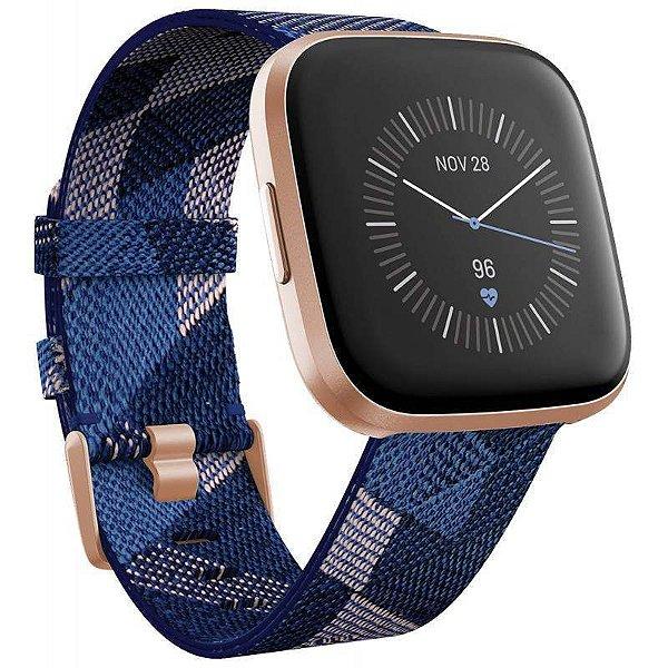 Relogio Smartwatch Fitbit Versa 2 Special Azul/CobreRose