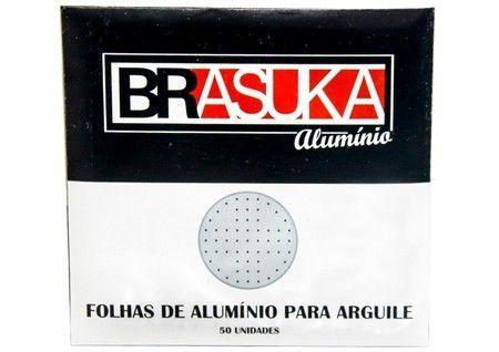 PAPEL ALUMINIO GRANDE BRASUKA C/ 50 UNIDADES