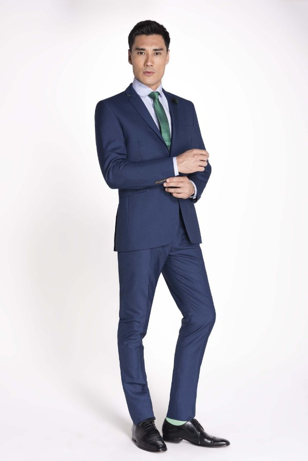 traje social masculino  Azul Bic - Raffer