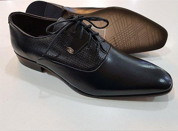 Sapato couro social Victor mancini - solado em couro