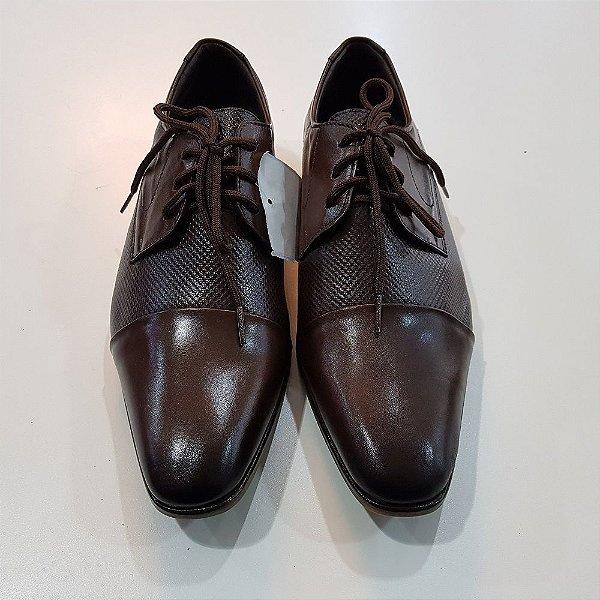 Sapato masculino couro marrom
