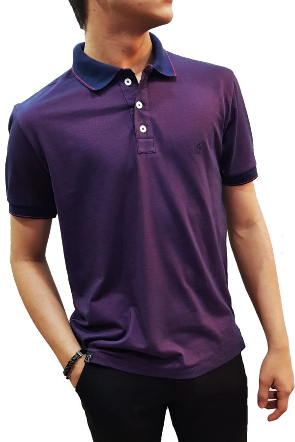 Camiseta gola polo masculina Exclusiva
