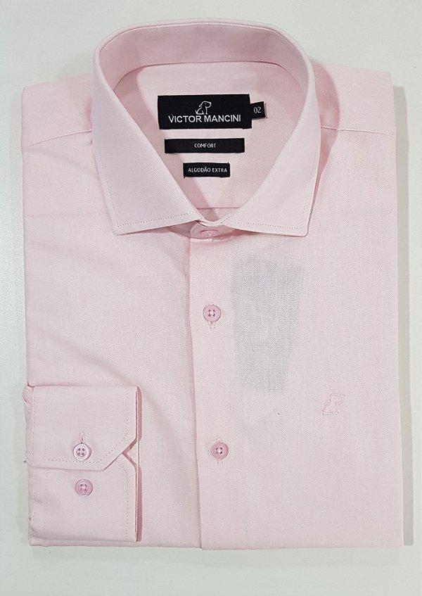 CAMISA MASCULINA MANGA LONGA / FIO 50 rosa