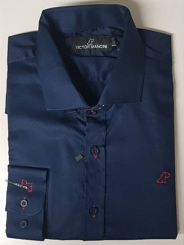 Camisa masculina manga longa tecido Egipcio
