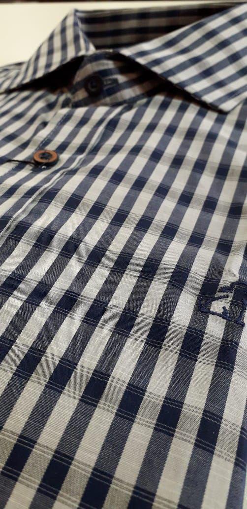 Camisa Social Masculina Xadrez Victor Mancini
