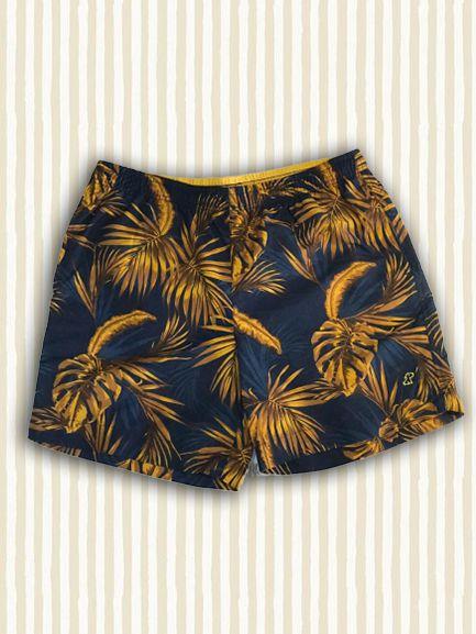 Short Floral Amarelo