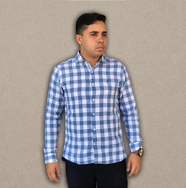 Camisa de Linho Azul