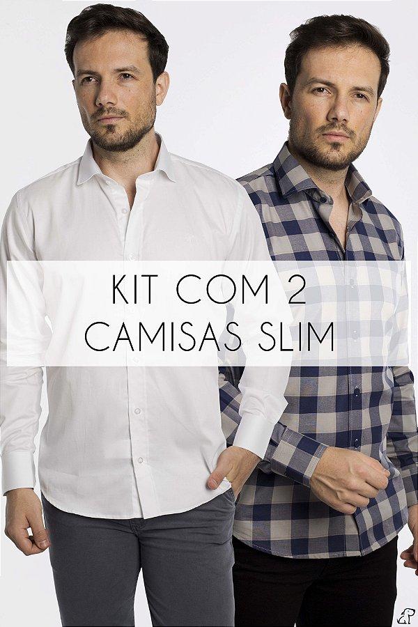 Kit Com 2 Camisas Sociais
