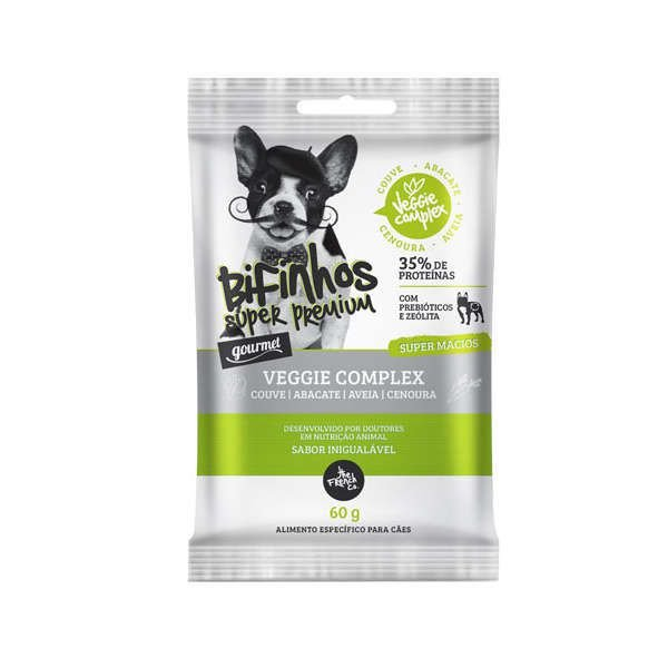 Bifinhos para Cachorro The French Co Super Premium Veggie Complex