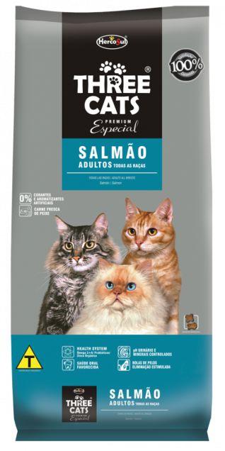 Ração Para Gatos Three Cats Adulto Salmão 1kg