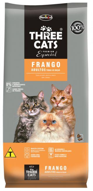 Ração Para Gatos Three Cats Adulto Frango 1kg