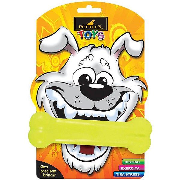 Brinquedos Para Cachorro Osso Médio Pet Flex Amarelo