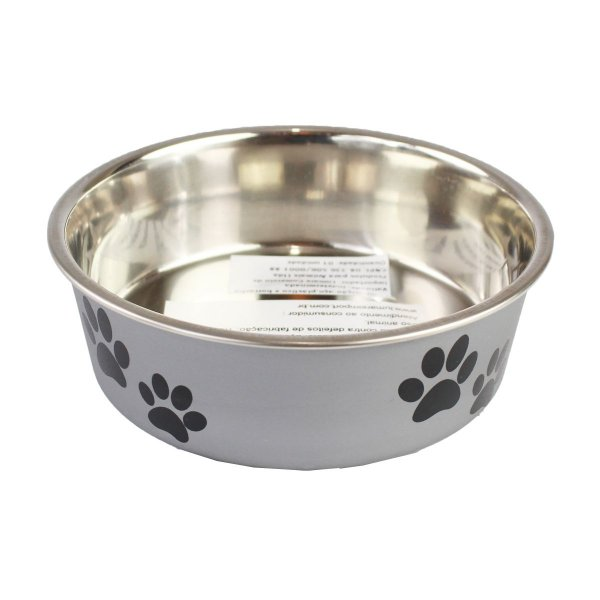 Comedouro Bebedouro Bella Bowl 14cm Loving Pets Silver