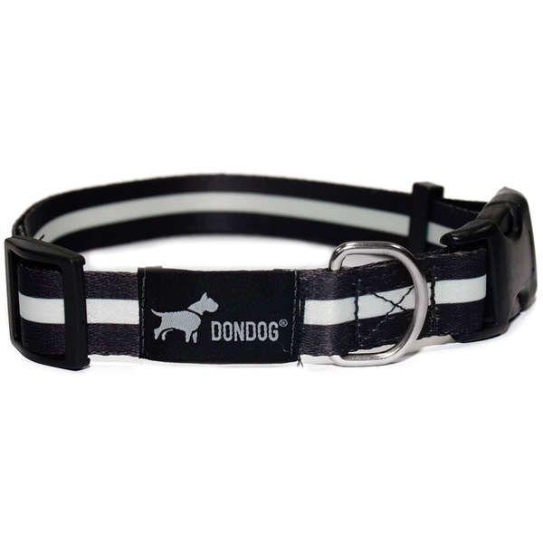 Coleira e Guia Don Dog Black And White