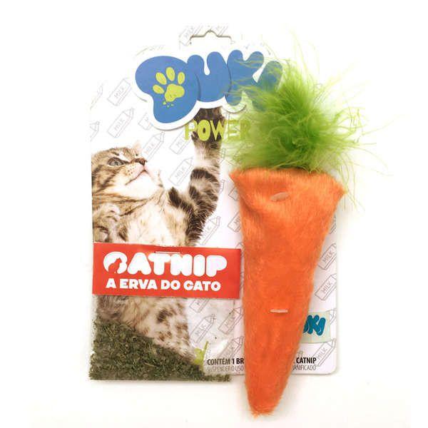 Brinquedos Para Gato Pelucia Cenoura Com CatNip Gatos Duki