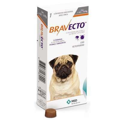 Antipulgas e Carrapatos Bravecto para Cães 4,5 a 10 kg