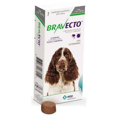 Antipulgas e Carrapatos Bravecto para Cães 10 a 20 kg