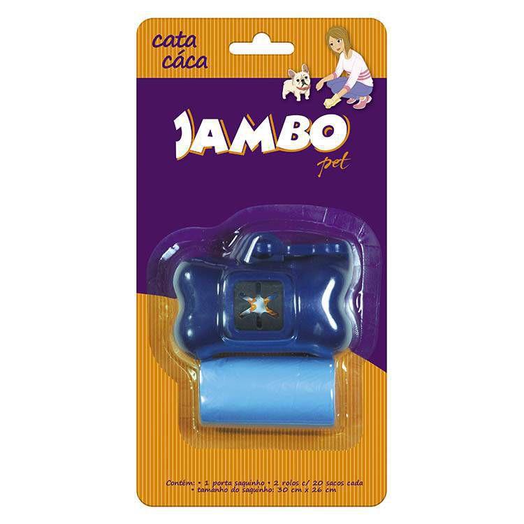 Kit Porta Saquinhos Coletores Dois Rolos Jambo Azul
