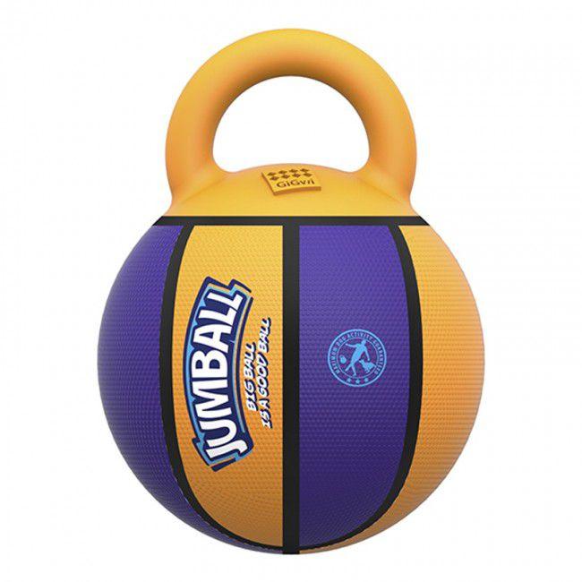 Brinquedos Para Cachorro Bola Jumball Basket Amarelo Roxo