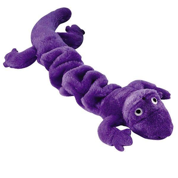 Brinquedos Para Cachorro Mordedor Pelúcia Lagartixa Lilás Grande