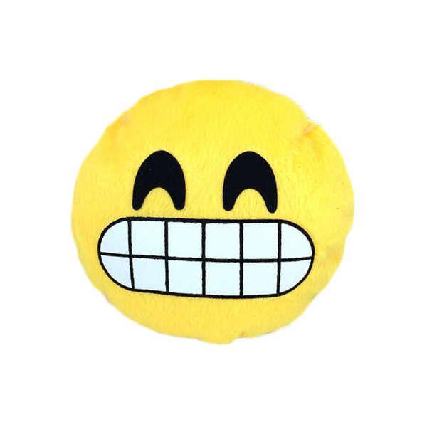 Brinquedos Para Cachorro Pelúcia Emoticon Sorriso