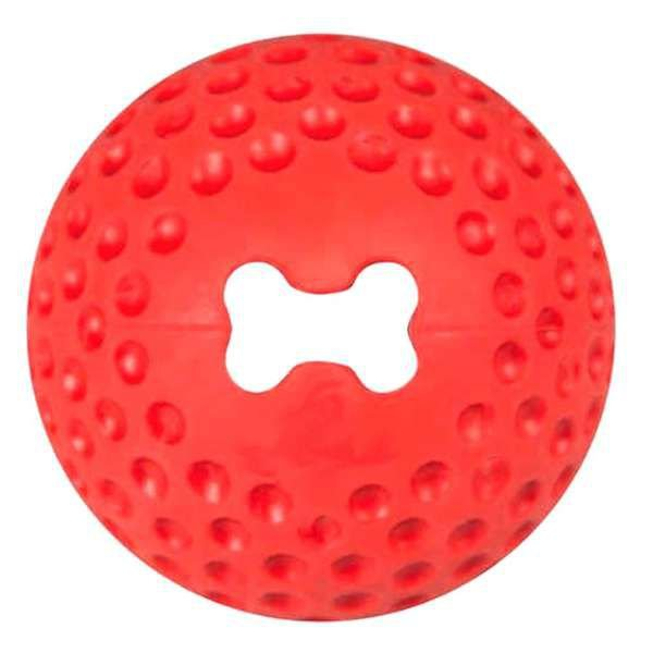 Brinquedo Para Cachorro Bola Grinz Rogz Vermelho P