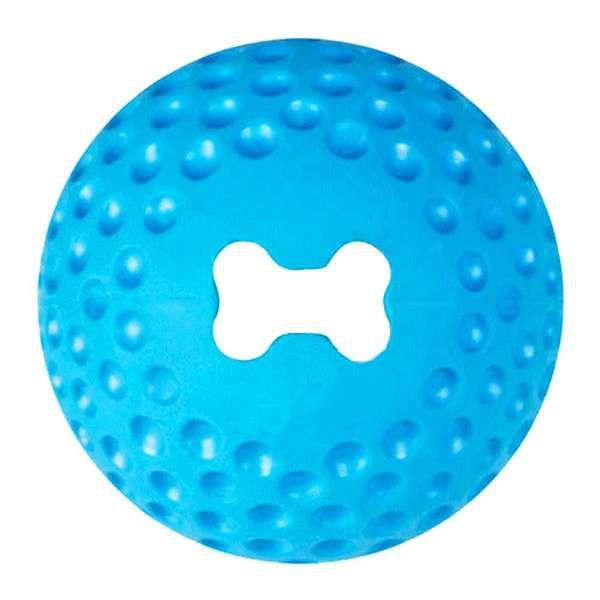 Brinquedo Para Cachorro Bola Grinz Rogz Azul M