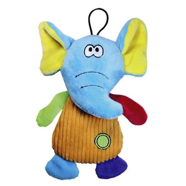 Brinquedo Para Cachorro Mordedor Pelúcia Fininho Elefante