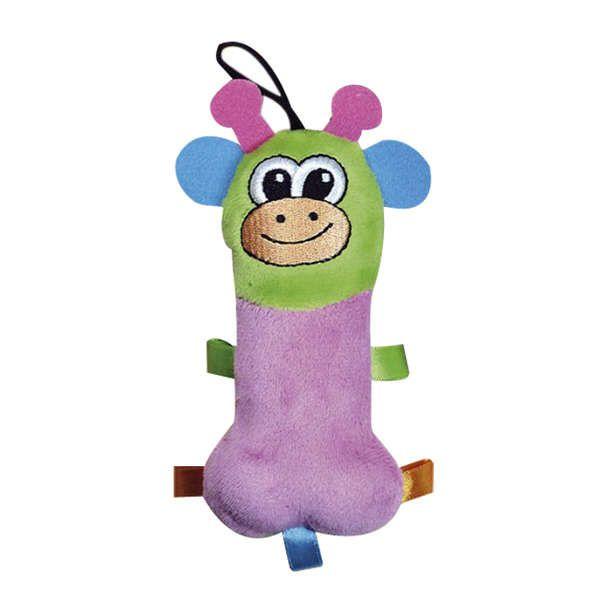Brinquedo Para Cachorro Mordedor Pelúcia Squeack Girafa