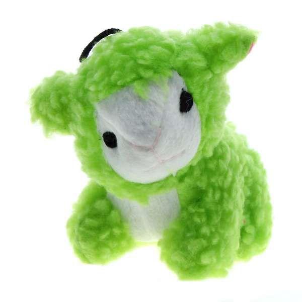 Brinquedo Para Cachorro Mordedor Pelúcia Baa Ovelha Verde