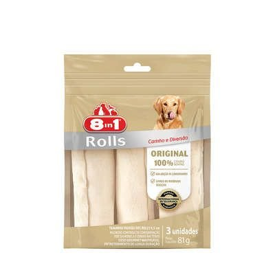 Osso Para Cachorro 8in1 Natural Roll