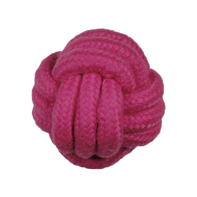 Brinquedos Para Cachorro Bola de Corda Rosa