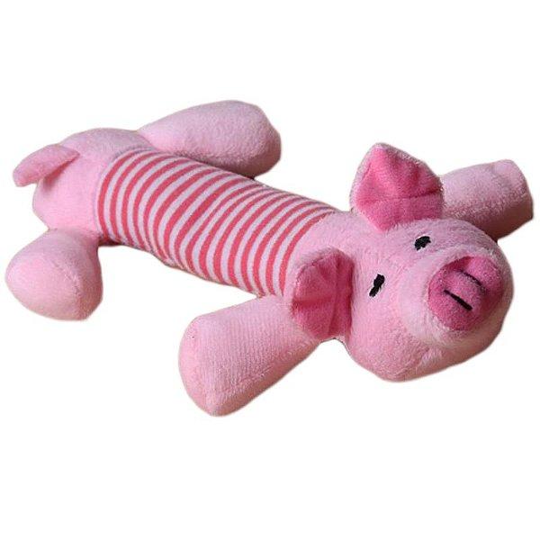 Brinquedo Para Cachorro Pelúcia Porquinho Plush Som