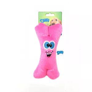 Brinquedo Para Cachorro Pelúcia Ossinho Rosa Duki