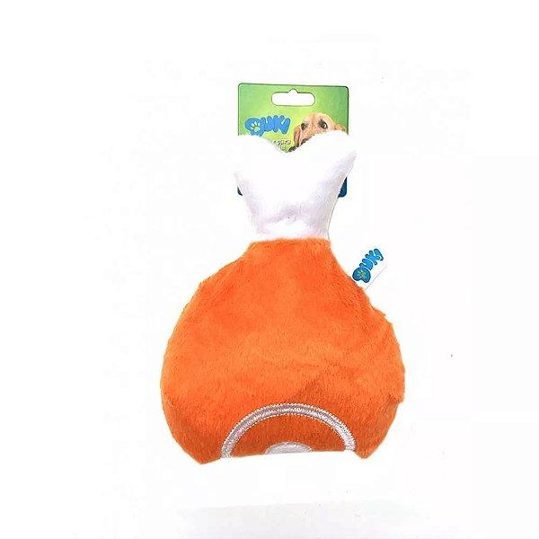 Brinquedo Para Cachorro Pelúcia Coxa de Frango Duki