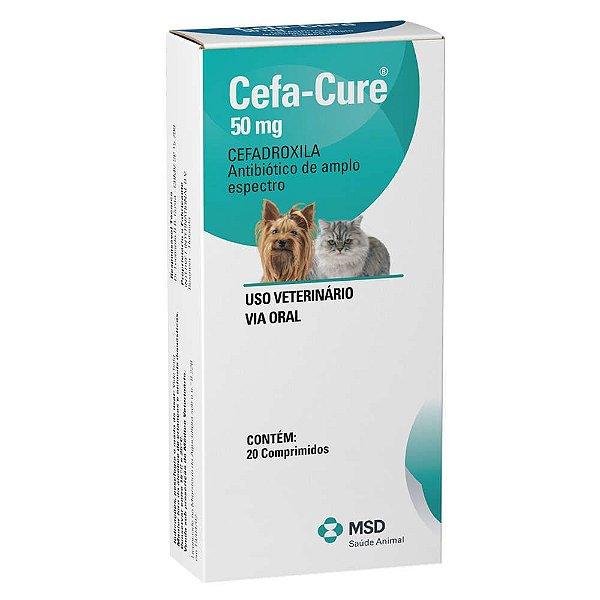 Antibiótico Para Cães e Gatos MSD Cefa Cure 50mg